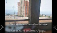 Venta departamento tres dormitorios en condominio Iquique