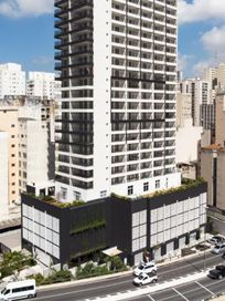 Apartamento studio a 180 metros do Metrô Santa Cecília