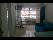 Sala Living vista ao mar Mobiliado no Itararé em São Vicente